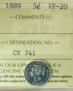 1889  CANADA  FIVE CENTS VERY FINE
