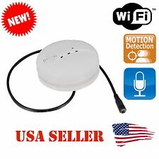 Smoke Detector WIFI IP Motion Detection Hidden HD Spy Camera DVR w/ Audio
