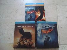 BATMAN BEGINS THE DARK KNIGHT double Feature Blu-Ray SteelBook with slipcover