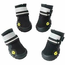 Dog Boots Waterproof Shoes With Reflective Anti-Slip Sole Snow Warm Paw, 4pcs  8