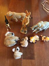 Vintage Koala Zoo Figurines Koala Clip On Dog Kangaroo Elephant Cheetah