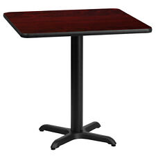 24' Square Mahogany Laminate Table Top With 22' X 22' Table Height Base