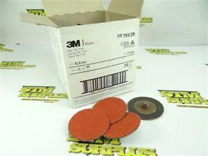 """NEW! BOX OF 50 3M TR 777F CERAMIC ABRASIVE ROLOC DISCS 2"""" DIA. 36 GRIT"""