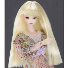 """DOLLMORE 12"""" Fashion doll wig Size (3-4)"""" Long Straight wig (Blonde)"""