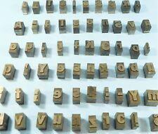 Lot Of 70 Headline Vintage Printing Press Typeset Letters Metal Blocks