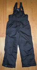L@@K! BOYS GIRLS FADED GLORY SNOWPANTS SKI SNOW BLACK ADJUSTABLE STRAPS XS 4/5