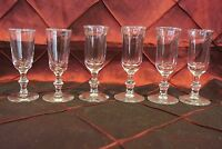 Set of 6 vintage Cordial Footed Glasses