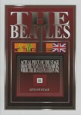 The BEATLES live in concert Star Club relic wood stage piece