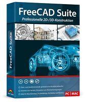Free CAD Suite - CAD Programm inkl. PDF Handbuch - Windows und MAC Version