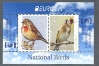 Guernsey-National Birds-Goldfinch-Linnet 2019 mnh Europa  min sheet
