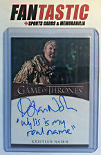 Kristian Nairn as Hodor GAME OF THRONES Inscription Autograph Card Season 8 Auto