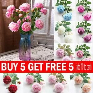 Artificial Silk Peony Flowers Fake Bouquet Home Wedding Party Garden Table Decor