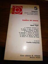 Estetica del cinema Henri agel  casa editrice D'Anna 1973 prima edizione