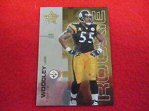 2007 Rookie & Stars LaMarr Woodley football rookie card Steelers # 124 of 199 RC
