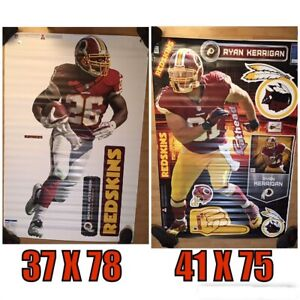 RARE-Washington Redskins Peterson & Kerrigan--FatHead- Over 6' Tall Wall Art-NIB