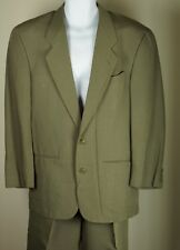Men's Emporio Armani Suit Coat Jacket Blazer 2 Button Pant Sage Size 44 Vintage