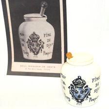 Vintage mustard container Moutarde Grey Poupon Fine De Dijon 1777 Mid century