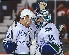 Henrik Sedin & Ryan Miller Signed 8×10 Photo Vancouver Canucks Autographed COA