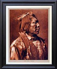 Lone Flag - Atsina Native American Black Framed Wall Decor Art Print Picture