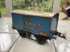 Hornby O Gauge No 1 Private Owner Van Carr's Biscuits