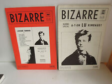Revue BIZARRE  N° 21-22 & 23  RIMBAUD    édité en 1961 et 62
