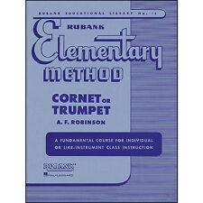 Rubank elementary method: Cornet or Trumpet: A fundamental course for, 4470010
