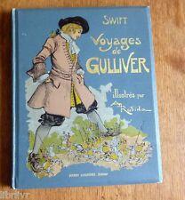 VOYAGES DE GULLIVER illustré par ROBIDA 1928 Liliput et Brobdignac Très bel état