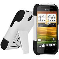 Amzer Weichen + Hartschale Hülle mit Ständer für HTC One SV-schwarz/weiß