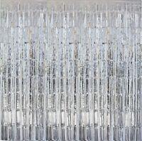 4 x Lametta Vorhang 100 x 200 cm Glitzervorhang Party Deko Karneval Fasching NEU