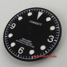 30.4mm black corgeut Watch Dial for eta 2824 2836 miyota 8215 Movement watch