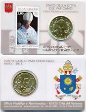 VATICAN TIMBRE & COINCARD numéro 9 2015 Pape François 50 CT timbre-poste