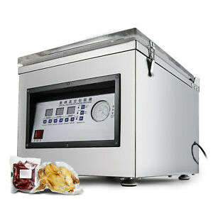 Vacuum Packaging Machine, 300W Commercial Kitchen Food Chamber Vacuum Sealer USA