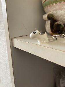 English Bull Terrier Bully Dog Resin Handbag Charm Keyring