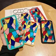 New Arrivel Colorful Rainbow Glass Cover Case For iPhone 8 7 6 6S Plus XR XS MAX