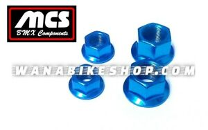 """MCS Steel Axle Nuts Red 3-8/"""""""