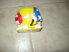 M&Ms Red And & Blue person Yellow Collectible Candy Dish Bowl Original m m Mars