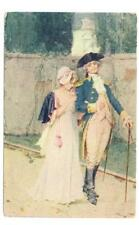 Revolutionary young couple strolling unused  postcard