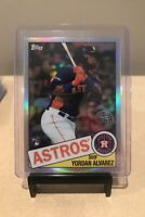 2020 Topps Chrome Yordan Alvarez RC Houston Astros Rookie - 35th Anniversary 🔥