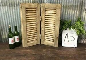 Small Antique Farmhouse Shutter, Natural Wood Shutter Architectural Salvage A5,
