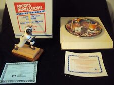 Roberto Clemente Figurine + Plate w/ Certs of Authenticity + Boxes