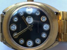 Vintage Timex Men Hand-Winding Mechanical Watch W special calender