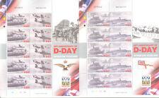Isle of man-D-Day 2004 anniv 4 sheets mnh-World War II - Military