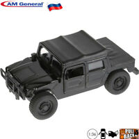 Diecast Car Scale 1:36 Hummer H1 Black Off-road Utility Vehicle Russian Model