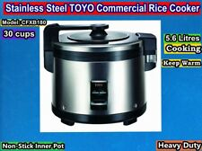 Stainless Steel Toyo Commercial Rice Cooker 30 cups/5.6L CFXB180 New