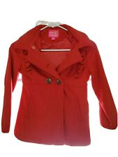 Girls Red Size 7/8 Wool Coat