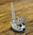 Swarovski Crystal (1) Tiny Baby Field Mouse w/ Frosted Tail Figurine, Swan Logo