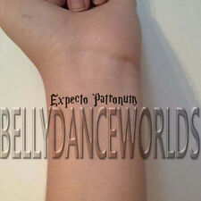1 SET OF 3 EXPECTO PATRONUM TEMPORARY TATTOO QUOTE BODY ART MAKEUP PARTY STICKER