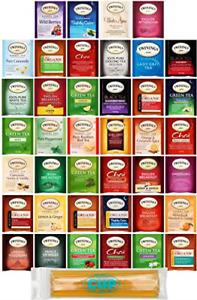 Twinings Assorted Tea Variety Pack - 40 ct Hot Tea Sampler: Camomile, Chai, Earl