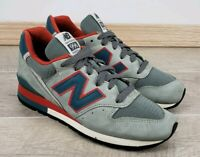 NEW BALANCE 996 MENS GREY Suede Red SIZE 6 MADE IN USA EUC