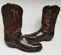 Laredo Western Cowboy Boots Leather 68354 Brown Men's Size 9 D